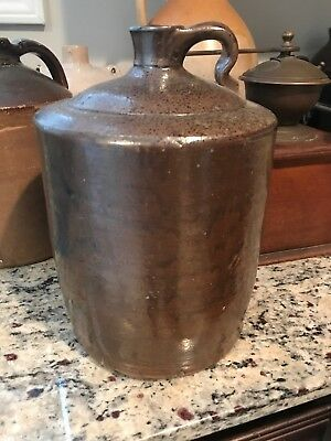 Antique Stoneware Jug Whiskey Jug 11 In