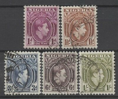 No: 61718 - NIGERIA - LOT OF 5 OLD STAMPS - USED!!