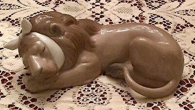 LLADRO PAINFUL LION  RARE RETIRED 1981 Excellent Condition