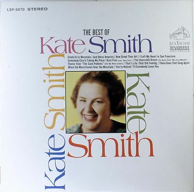 Kate Smith THE BEST OF KATE SMITH LP USA  RCA Victor M-/VG-