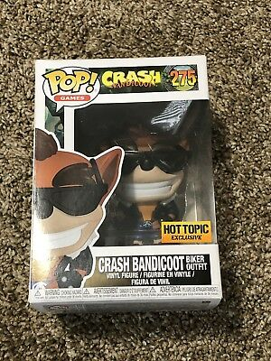 Funko Pop! Games Crash Bandicoot Biker Outfit #275 Hot Topic Exclusive