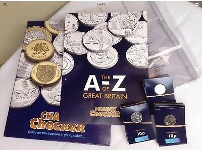 A-Z 10p Coins Complete Set plus Collector's Medal & Album (Early Strike 2018) i