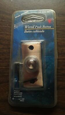 Zenith Copper Push Button Door Bell For Use With Chimes LE-842BC NOS