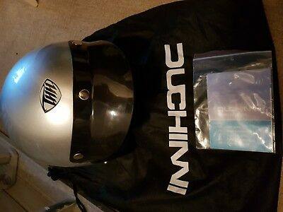 Duchinni Open Face Helmet S 55-56cm Silver Motorcycle