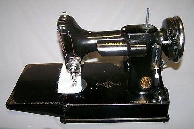 Singer Featherweight Sewing Machine New Cord Professionally Refurbished
