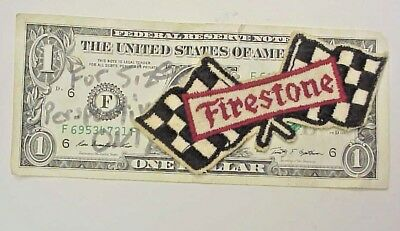 Firestone Racing Tire  Ad Cloth Patch - 1960s or 70s vintage