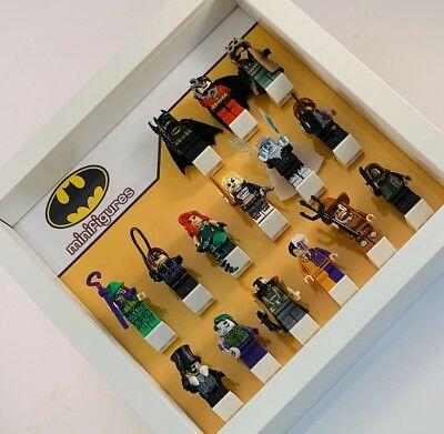 Minifigure Display Case Frame Lego DC Comics Batman AFOL minifigs figures
