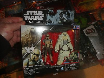 """Star Wars Rogue One - 2 Pack With Scarif Stormtrooper &  Moroff   3.75"""". Sealed"""