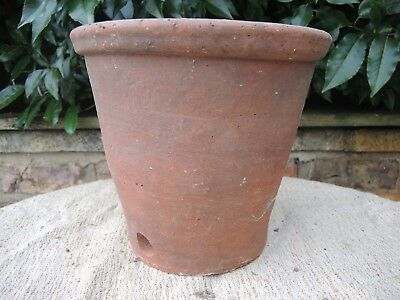 "Rare Old Side Drainage Vintage Terracotta Plant Pot 9.5"" Diameter (1194)"