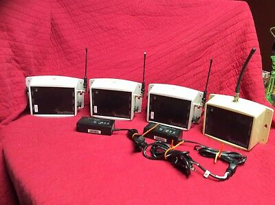 LOT OF 4 VISIPLEX ALERTWAVE WIRELESS PA CONTROLLER , VNS2020 w/ Power supply