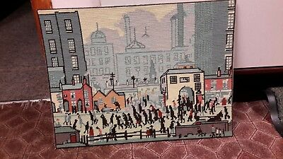 Completed DMC LS Lowry Tapestry