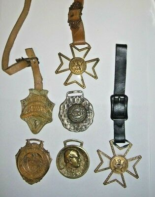 ANTIQUE AND VINTAGE WATCH FOB LOT Good Fobs! Take a Look!
