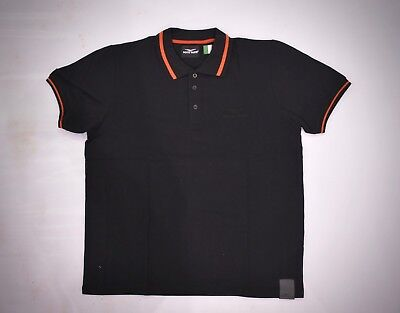 Authentic Moto Guzzi Official Classic Polo Shirt Black / Red