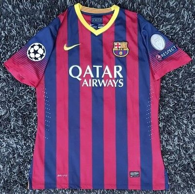 b1421f3c5 Nike FC Barcelona Home Authentic Player Match S S Football Shirt 2013 14