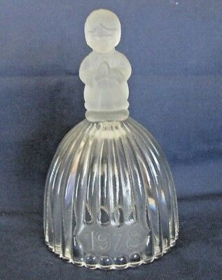 Goebel First Edition Annual Crystal Glass Bell 1978