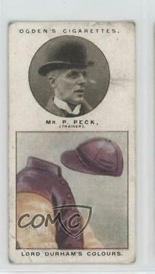 1926 Ogden's Trainers and Owners' Colours #14 Mr P Peck (Lord Derham's Colours)