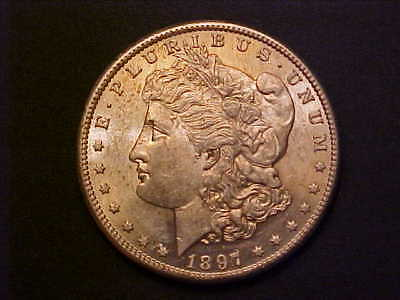 1897-S Morgan Silver Dollar -Gorgeous Choice Bu -Great Collector Coin!-Aa297Cxxx
