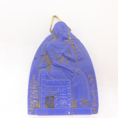 Vintage Neiger Egyptian Revival Glass Pendant - Czech Glass Pendant For Necklace