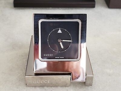 Gucci Limited Edition Travel Clock Ref 0830 Gorgeous Authentic Vintagerare