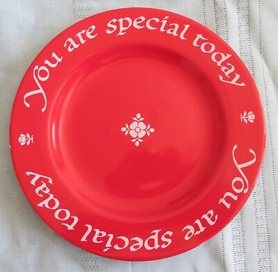 Waechtersbach Original Red Plate Co. YOU ARE SPECIAL TODAY Plate Germany