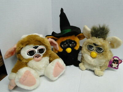 Lot of 3 Vintage Furby's Non working
