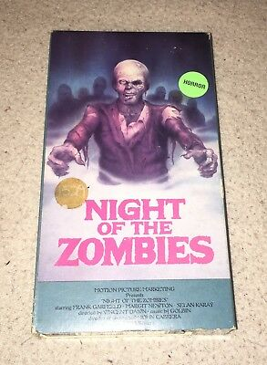NIGHT OF THE ZOMBIES - Rare Horror VHS - Vestron Video Gore Sleaze Cult