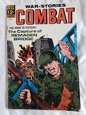 Combat War Stories Comic Book By Dell Comics 1967 Issue # 25 Military Book Retro