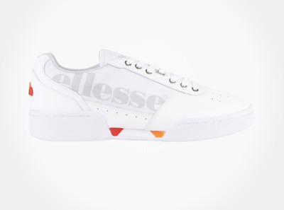 New! Ellesse Piacentino 2.0 Casual Leather 610012 Shoes White Gray Red Retro c1