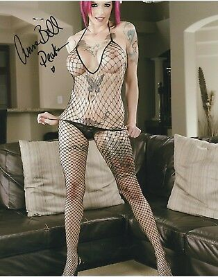 Porn star Anna Bell Peaks signed 8x10  photo autograph model Proof