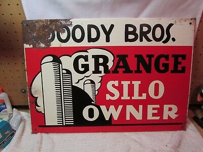 VTG. Grange Silo Sign~Tin~Nice Color & Graphics~Farm