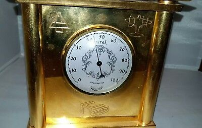 Solid brass 4 Sided clock on swivel Base from Lostock apprentices 1985 7kg