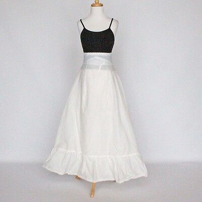 "Long Formal Half Slip / Bridal Gown Petticoat / White / W 24"" - 28"" / Small"