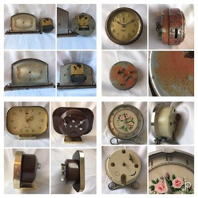 Job Lot Of 4 Clocks Some Working 1930/60