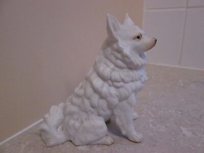 Antique Bisque Porcelain - Samoyed  Dog  C.1880