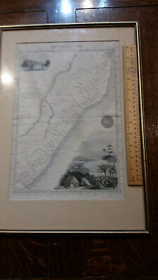 antique map (circa 1850) of Natal and Kaffraria.  Framed.