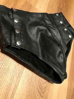 Men's Small Northbound Leather Shorts Briefs Fetish Kinky