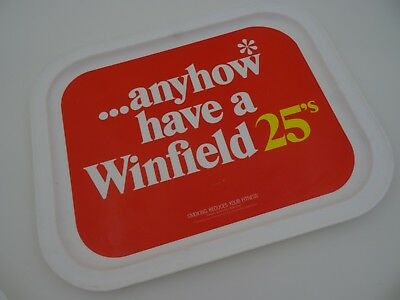 ...anyhow have a Winfield 25's Cigarette Advertising Beer Tray Rare!