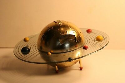 Vintage Solar System Spin Around Astro Mechanical Coin Bank