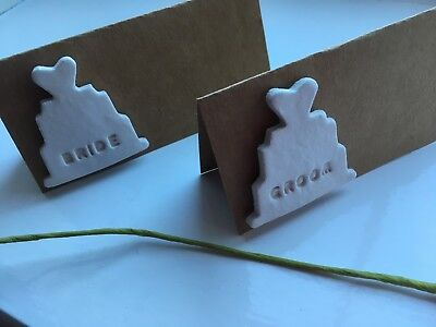 Wedding Favour Table Place Name Cards Reception Dinner Personalised Handmade X10