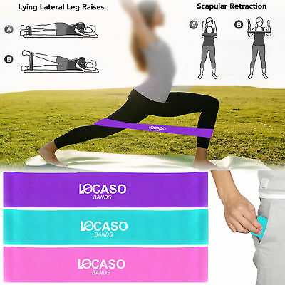 Resistance Loop Band Bands Home Gym Fitness Exercise Glutes Leg Arm Yoga Pilates