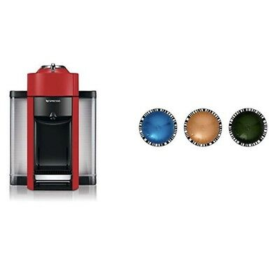 DeLonghi Nespresso Vertuo Evoluo Coffee Espresso Machine Red with 12 pods $250