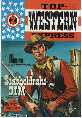 TOP WESTERN EXPRESS 364 / Geo Barring (1962-1975 Indra-Verlag)
