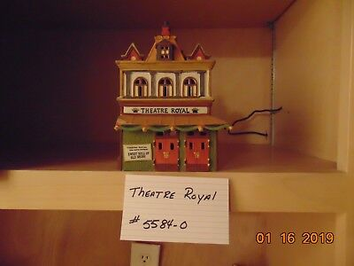 Dept 56 THEATRE ROYAL Heritage Dickens Village Lighted House 5584-0 Boxed