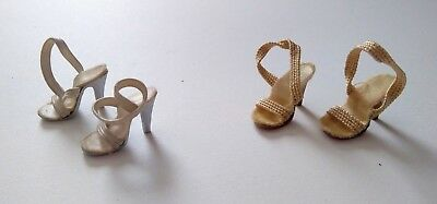 Two Pairs of Vintage 1950s Madame Alexander Cassette Strappy High Heel Shoes