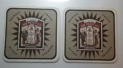 2 Tuppers Hop Pocket Ale Beer Coasters Old Dominion Brewing Co. Ashburn Virginia