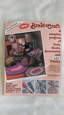 Braid Craft Braided Rug Making Clips and Cord New Old Stock Vintage Craft