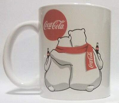 Authentic Coca-Cola Polar Bear Couple Coffee Mug Cup
