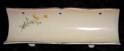 Antique Hampshire Pottery Worcester Style 1880's Pen Tray?  Unusual Form