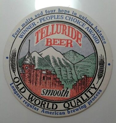 Telluride Beer Smooth Old World Quality Beer Coaster Mat