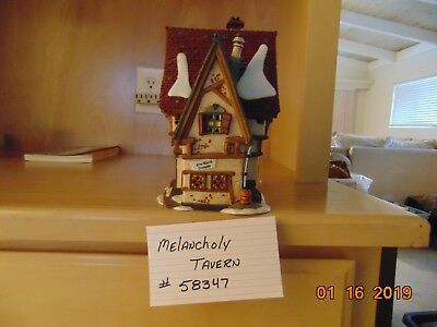 Dept 56 Dickens Heritage Village #58347 The Melancholy Tavern Retired